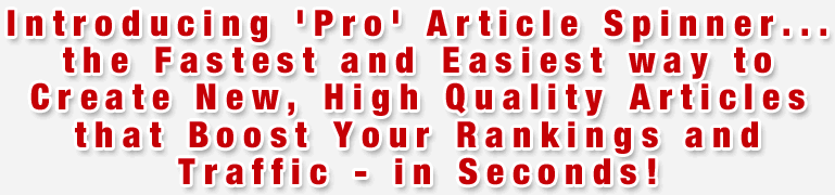 pro article spinner